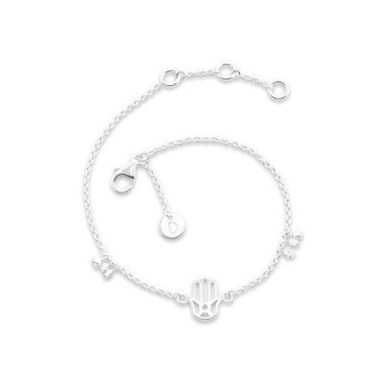 Picture of Hand Of Fatima Good Karma Bracelet in Silver