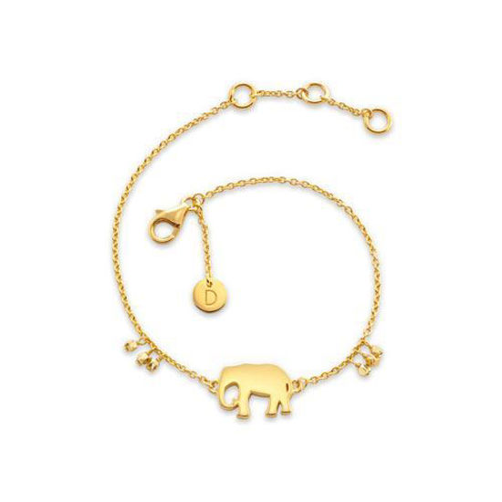 Picture of Elephant Good Karma Bracelet in Gold