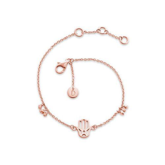 Picture of Hand Of Fatima Good Karma Bracelet in Rose Gold