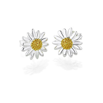 Picture of Bellis Daisy Stud Earrings 10mm