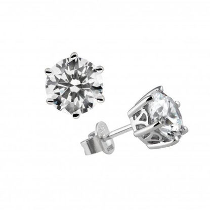 Picture of 2ct Six Claw Solitaire Ear Studs