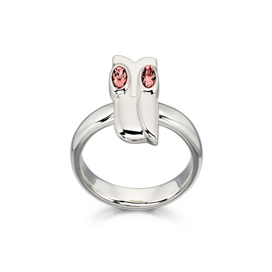 Picture of Silver Owl Ring with Swarovski detail