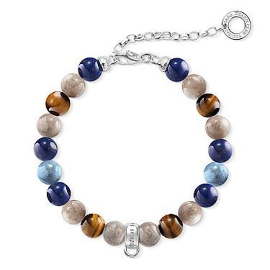 """Picture of Charm Bracelet """"Brown, Blue"""""""