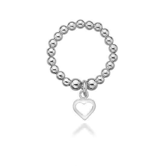 Picture of Annabelle Silver Open Heart Ring