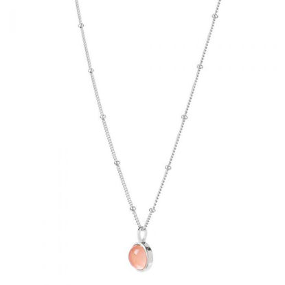 Picture of Rose Quartz Healing Stone Necklace Silver