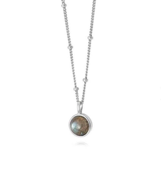 Picture of Labradorite Healing Stone Necklace Silver