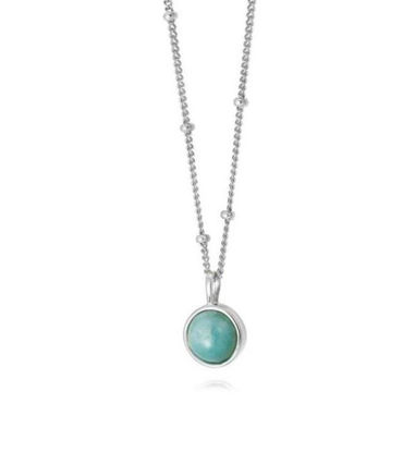 Picture of Amazonite Healing Stone Necklace Silver
