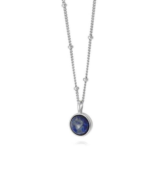 Picture of Lapis Healing Stone Necklace Silver