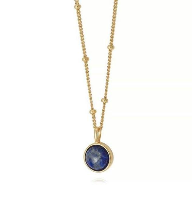 Picture of Lapis Healing Stone Necklace 18Ct Gold Plate