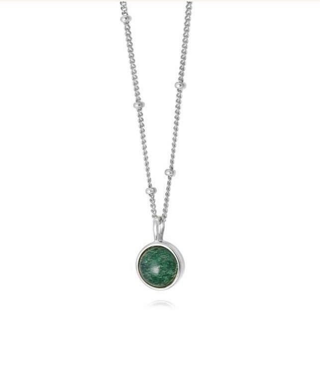 Picture of Green Aventurine Healing Stone Necklace Silver