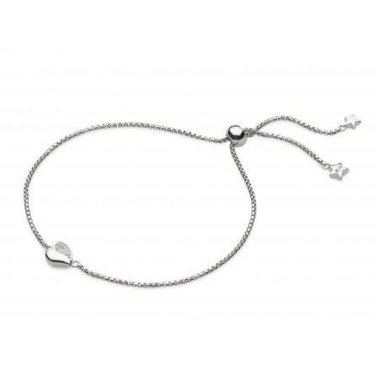 "Picture of Miniature Sparkle CZ Sweet Heart 7.5"" Toggle Bracelet"