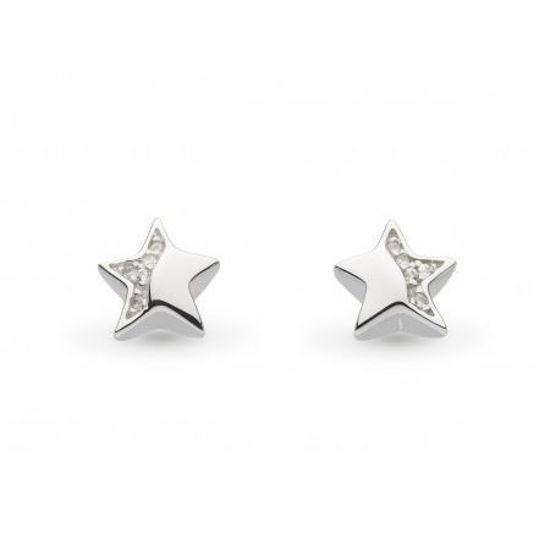 Picture of Miniature Sparkle CZ Shining Star Stud Earrings