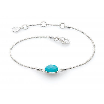 Picture of Coast Pebble Turquoise Stone Mini Bracelet