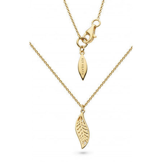 """Picture of Kit Heath Blossom Eden Mini Leaf Gold Plate 17"""" Necklace"""