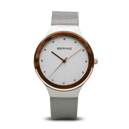 Picture of Bering Classic Rose Gold Silver Mesh Strap