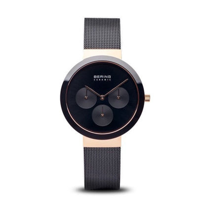 Picture of Bering Black and Rose Gold Chronograph Watch
