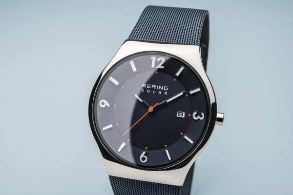 Picture of Bering Solar Silver and Blue Watch