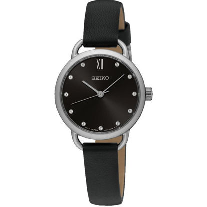Picture of Seiko Black Leather Watch
