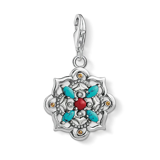 Picture of Ethnic Lotus Flower Charm