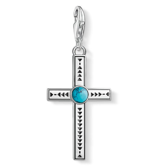 Picture of Ethnic Cross Turquoise Charm