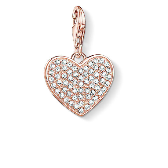 Picture of Rose Gold Pave Heart