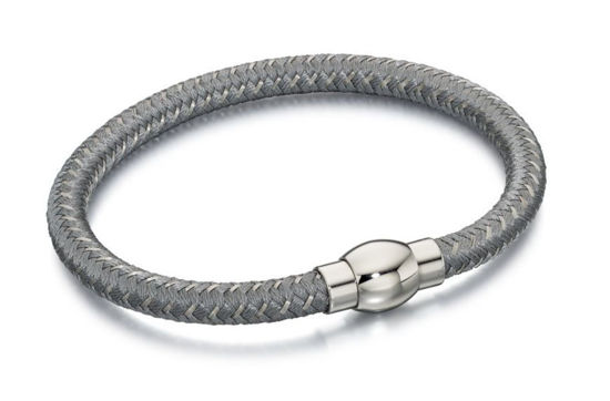 Picture of Silver And Grey Nylon Bracelet
