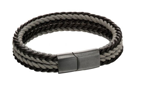 Picture of Grey Woven Dual Colour Clasp Bracelet