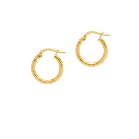 Picture of The Hoop Station La Rimini Huggies in gold 15mm