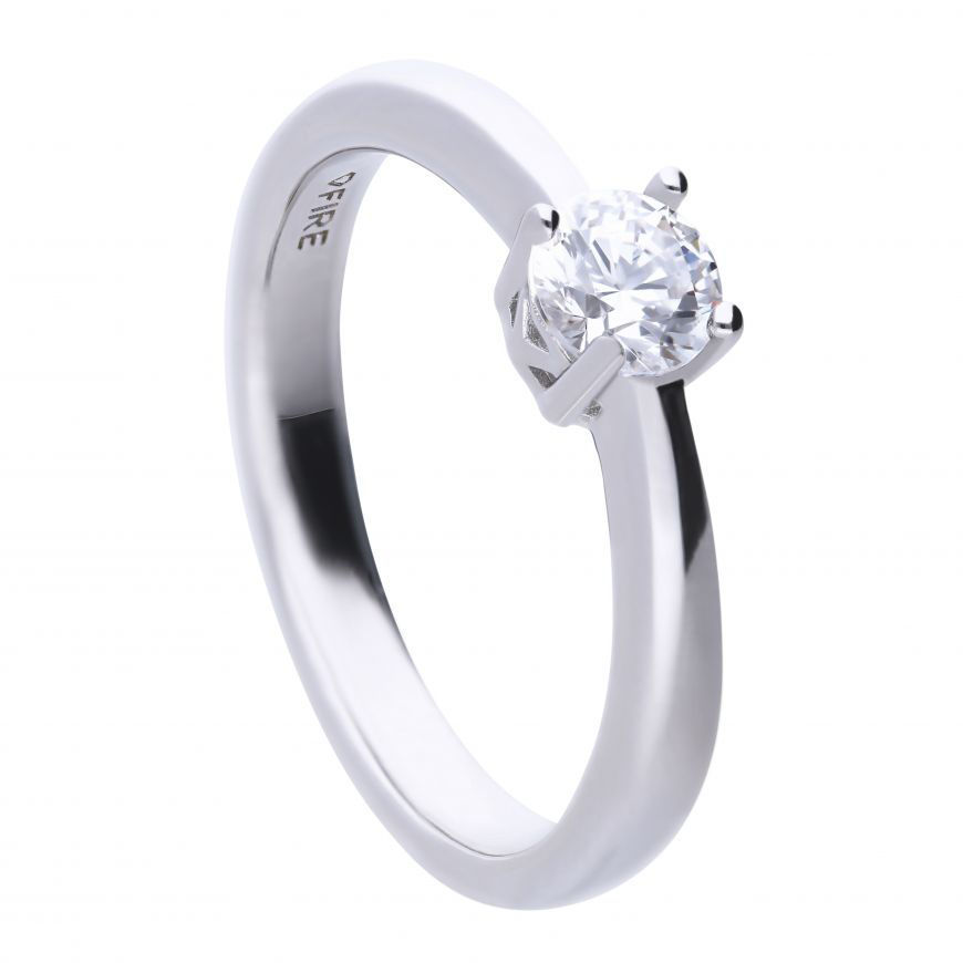 Picture of 0.50ct Four Claw Cubic Zirconia Solitaire Ring