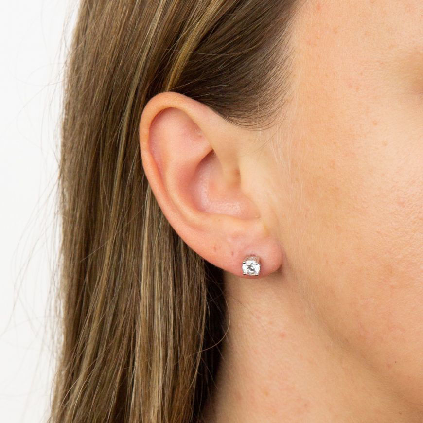 Picture of 0.50ct Four Claw Cubic Zirconia Stud Earring