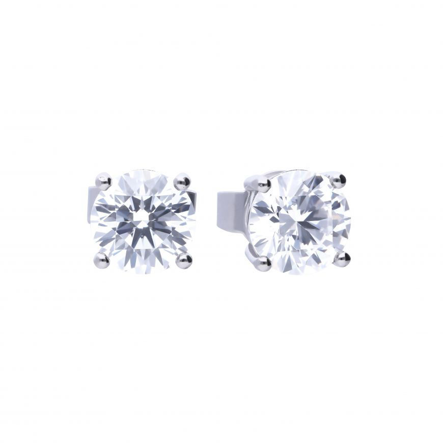 Picture of 1ct Four Claw Cubic Zirconia Stud Earring