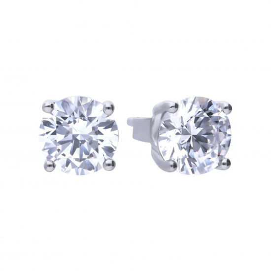 Picture of 2ct Four Claw Cubic Zirconia Ear Studs