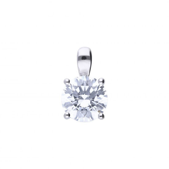 Picture of 2ct Four Claw Solitaire Necklace