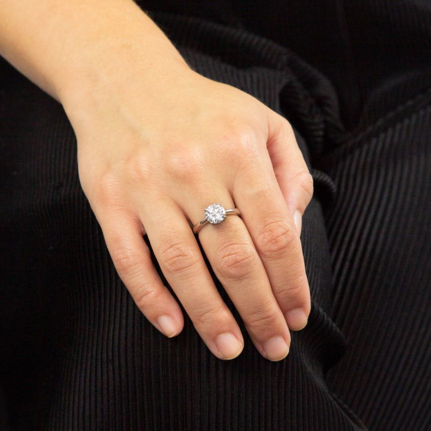 Picture of 2ct Four Claw Solitaire Ring