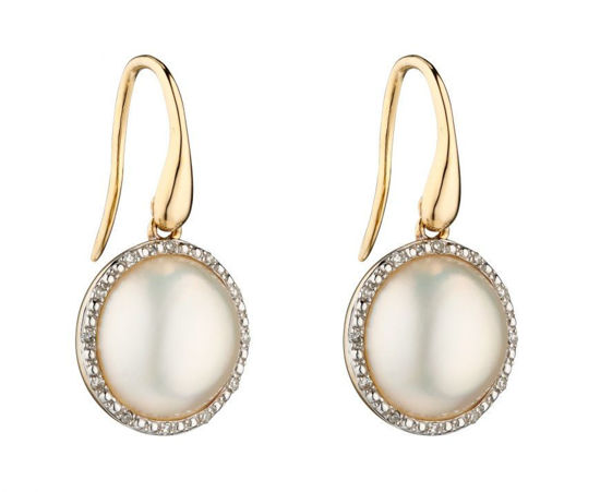 Picture of Mabe Pearl and Diamond Earrings