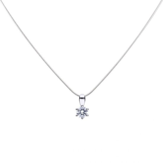 Picture of 0.50ct Solitaire Six Claw Set Necklace