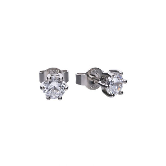 Picture of 1ct Solitaire Six Claw Set Stud Earrings