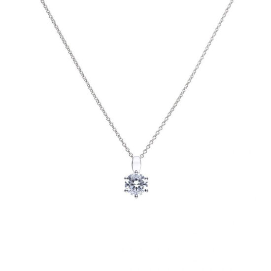Picture of 1.5ct Solitaire Six Claw Set Necklace