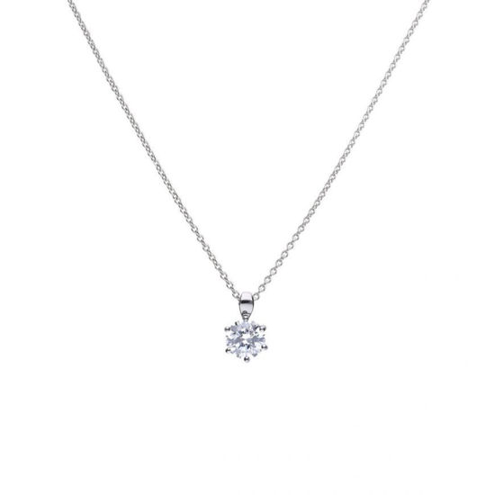 Picture of 2ct Solitaire Six Claw Set Necklace