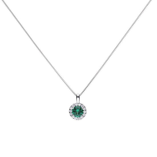 Picture of Green Round Pave Necklace