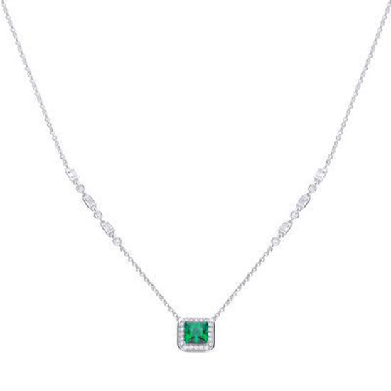 Picture of Art Deco Style Emerald Pave Necklace