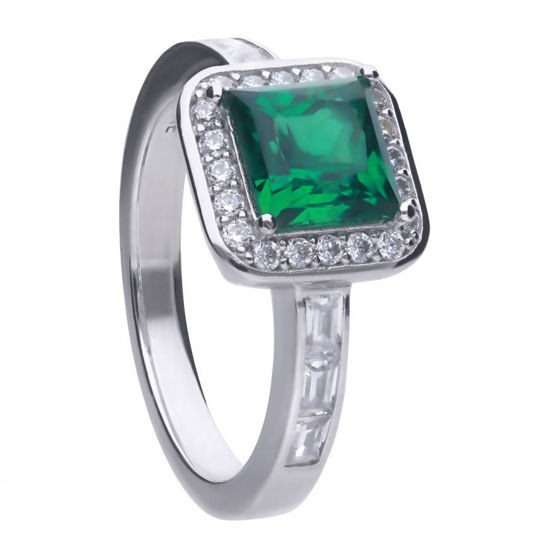 Picture of Art Deco Style Emerald Pave Ring