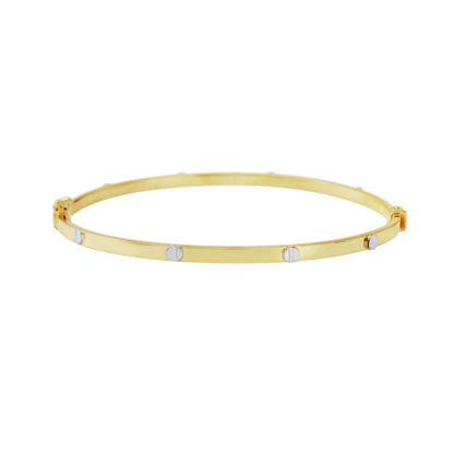 Picture of Yellow Gold Bangle with White Gold Screw Design