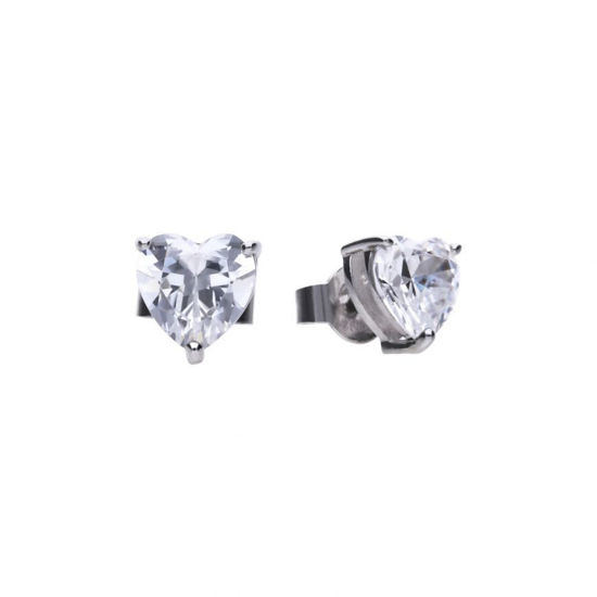 Picture of Heart 2.1 Ct Claw Set Stud Earrings