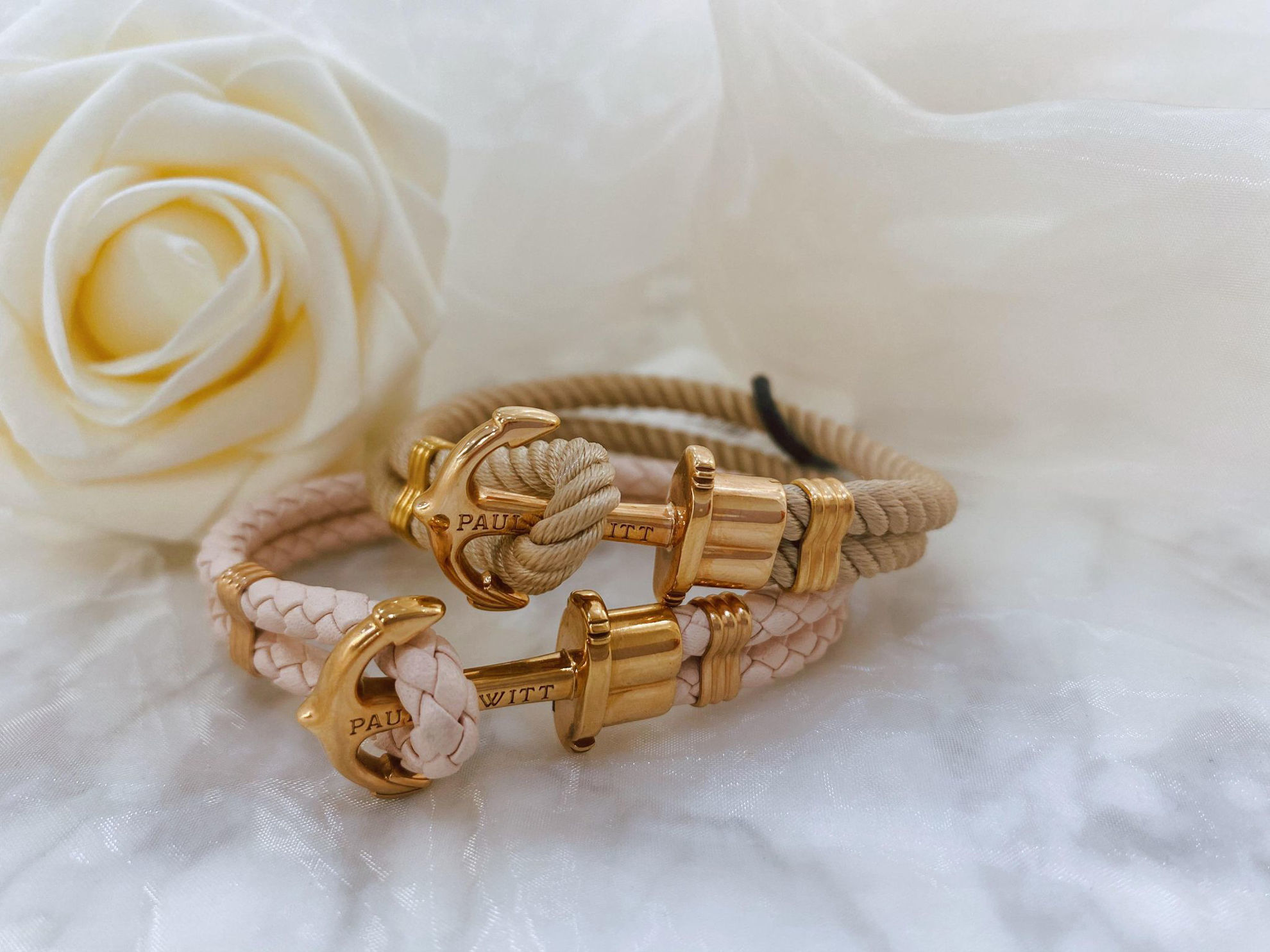 Picture of Beige Rope Paul Hewitt Anchor Bracelet