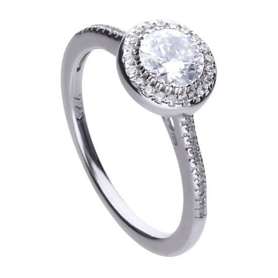 Picture of Round Cluster And Pave Set Ring