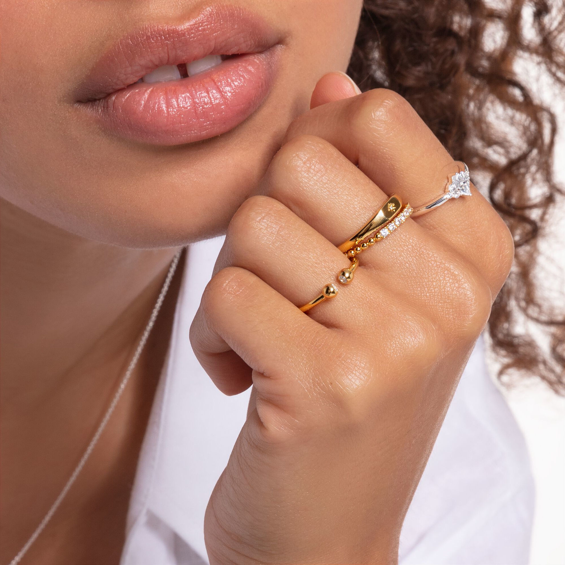 Picture of Gold Dot Ring