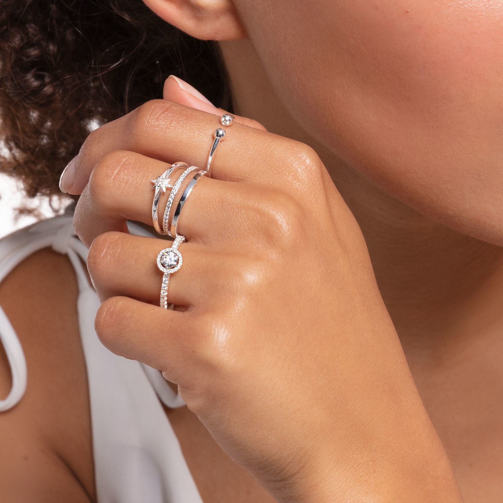 Picture of Double Band Silver Ring