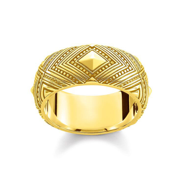 Picture of Chunky Patterned Gold Ring
