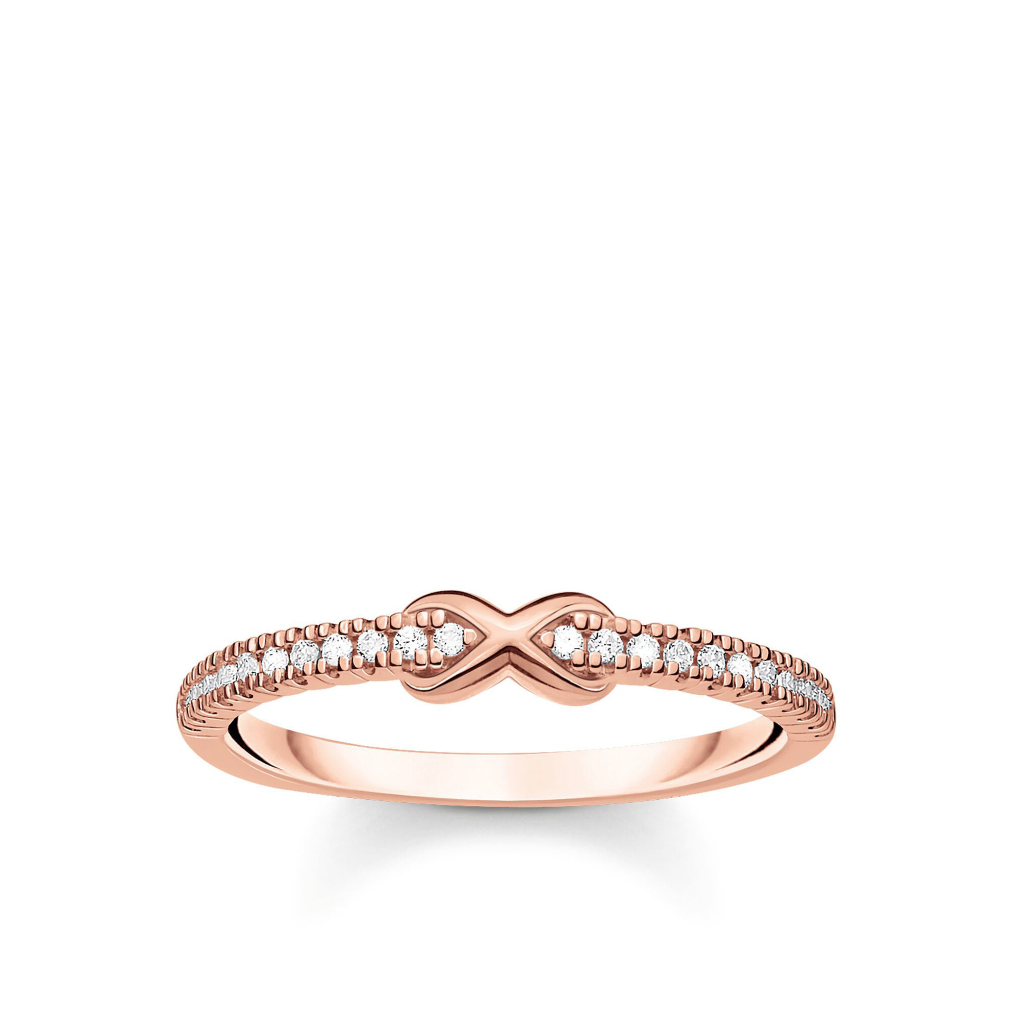 Picture of Infinity Ring in Rose Gold
